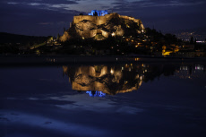 Greece Blue Acropolis