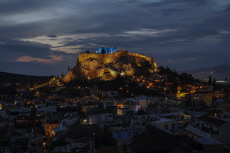 APTOPIX Greece Blue Acropolis