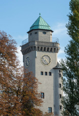 The Casino Tower at Berlin-Frohnau S-Bahn Station