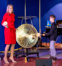 Queen Maxima at the signing of the Music Agreement for More Music in the Classroom in Helmond, the Netherlands. 20 Nov 2019