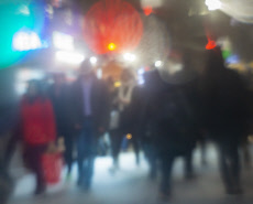 Crowds in Herald Square