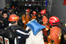 (SPOT NEWS)CHINA-SHANDONG-JINING-COAL MINE ACCIDENT-RESCUE (CN)