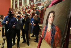 Russia: Portrait of a Woman Wearing Garnet Necklace painting handed over to Russian Museum