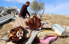 Demolition of a house in Yatta, south of Hebron