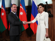 Russia: Russia's Prime Minister Medvedev and Azerbaijan's Vice President Aliyeva meet in Moscow