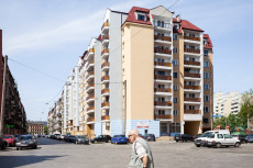 Renovated prefabricated buildings in Wroclaw