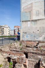 Old buildings and exposed basements in Wroclaw