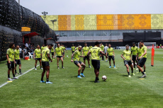 Flamengo training session in Lima for the Copa Libertadores final game