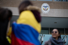 DC: Protest at the Columbian Embassy