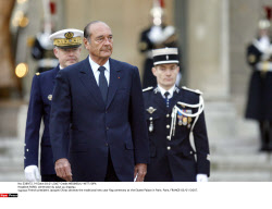 PARIS:  Chirac traditional new year flag ceremony.