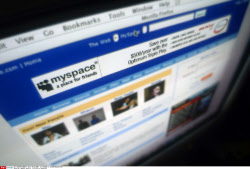 MySpace website, a division of NewsCorp.