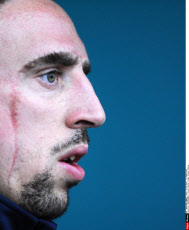 MONTMORENCY: French Soccer Player Franck Ribery