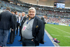 ST-DENIS: French League Cup Final Match OM-Montpellier, Louis Nicollin.