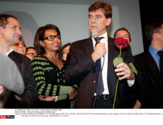PARIS : Arnaud Montebourg at the Bellevilloise