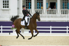 LONDON. London Olympic Games Zara Phillips Competes in The Eventing