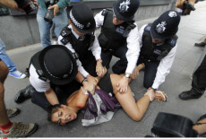 London Olympics Protest
