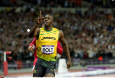LONDON. Usain Bolt wins  Olympics men's 100 meters final