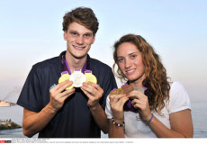NICE : French swimmers medalists return home