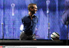 CROATIA: Nick Vujicic gives a speech