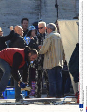 'The Zero Theorem' on set filming, Bucharest, Romania - 06 Nov 2012