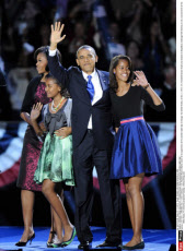 CHICAGO: Newly elected U.S. President Barack Obama attend the election night rally i