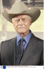 Larry Hagman on the set of 'Dallas' TV, Dallas, America - 28 Jan 2012