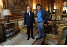 PARIS: Francois Hollande receives Nicolas Hulot
