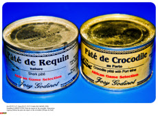 ALIMENTATION: Pate de requin et de crocodile -illustration