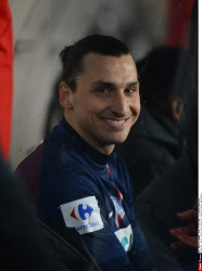 Paris: Paris Saint-Germain's Forward Zlatan Ibrahimovic