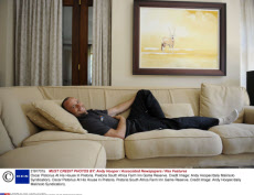 Oscar Pistorius At His House In Pretoria. Pretoria South Africa Farm Inn Game Reserve. Credit Image: Andy Hooper/daily Mail/solo Syndication).