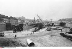 Paris : Chantier du peripherique parisien en 1971
