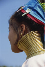Thailand, Chiang Rai, Long Neck Hilltribes, Young Woman, Neck