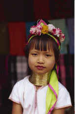 Thailand, Chiang Rai, Long Neck Hilltribes, Child