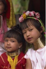 Thailand, Chiang Rai, Long Neck Hilltribes, Children