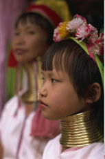 Thailand, Chiang Rai, Long Neck Hilltribes Child