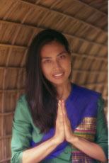 Thailand, Bangkok, Traditional Wai Greeting from Thai Woman