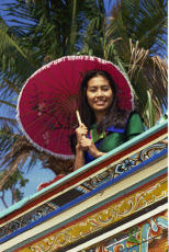 Thailand, Bangkok, Thai Woman on Boat