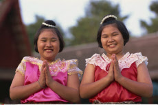 Thailand, Bangkok, Rose Garden, Thai Children