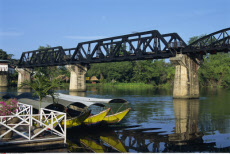 Thailand, Kanchanaburi, Bridge on the River Kwai