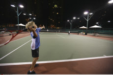 China, Hong Kong, Children Playing Tennis