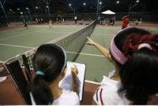China, Hong Kong, Children at Tennis