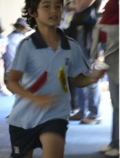 China, Hong Kong, Boy Running