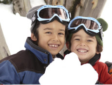 Australia, Victoria, Mt. Buller, Boys in Snow