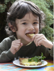 Australia, Victoria, Boy Eating