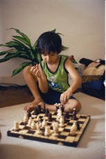 Australia, Boy Playing Chess