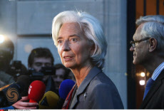 Paris IMF Christine Lagarde leaves court house