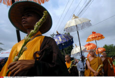 INDONESIA-MAGELANG-VESAK DAY-PROCESSION
