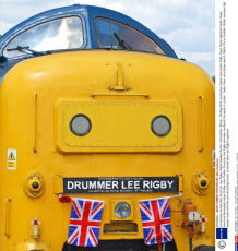 Locomotive named after Drummer Lee Rigby, Didcot Railway Centre, Oxfordshire, Britain - 25 May 2013