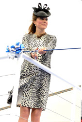 Kate baptise le bateau Royal Princess