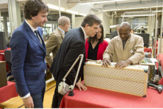 Montebourg visits Louis Vuitton